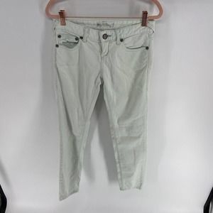 Free People White Wash Low Rise Straight Jeans